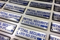 Retail Security kristallkleebised